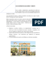 Funciones de Cooperativa de Ahorro y Crédito