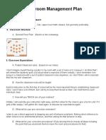 rauen - classroom management plan