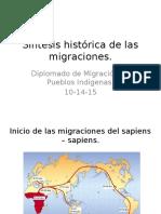 Síntesis histórica de las migraciones
