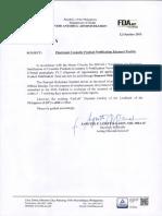 FDA Advisory No. 2015-074