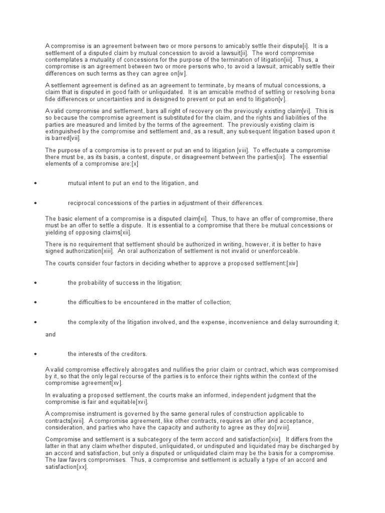 Compromise Vs Amicable Settlement Settlement Litigation Lawsuit