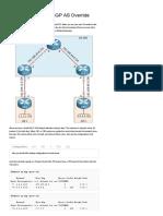 Cisco MPLS Layer 3 VPN BGP as Override