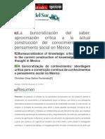 3 Bailon__C._2014. La_burocratizacion_del_saber (Pacarina del Sur).pdf