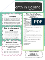Monthly Newsletter 05 17