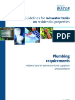 Sydney Water Guidelines for Rainwater Tanks