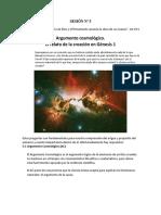 5. El Argumento Cosmológico, Relato de La Creación en Gén 1