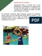 Importancia Del Voleibol