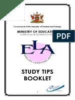 ELA Study Tip Brochure