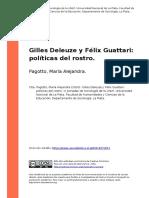 Pagotto, Maria Alejandra (2010). Gilles Deleuze y Felix Guattari Politicas Del Rostro