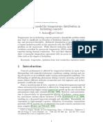 Multiscale Model Temperature Distribution Hydrating Concrete