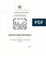 SEA Math Easter Camp 2015 Part 1