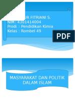 Masyarakat Dan Politik Dalam Islam