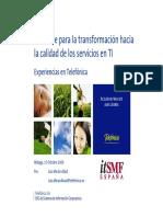ITIL Clave Para La Transformacion Hacia La Calidad de Los Servicios en TI