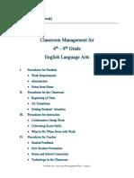 classroom management plan wasielewski