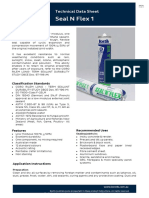 Bostik Seal N Flex (Technical Data Sheet)