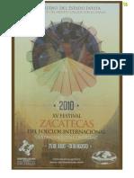 Programa del XV edición del Festiva l2010