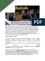 Training Auditor ISO 22000 | Training ISO 22000 | WA +62 857 1027 2813