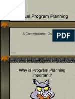 Annual Program Planning - A Commissioner Overview