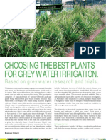 CHOOSING THE BEST PLANTS FOR GREY WATER - Queensland, Australia