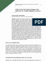 Land surface water harvesting techniques for drought mitigation measures - Australia