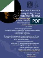 Cartel II Coloquio Centroamericano