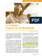 CASTRO ZEMBRANO, Wilmer. La Lengua, Espejo de La Identidad.
