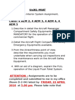 Aircraft Cabin Interior System - Assignment