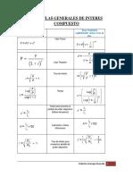 Formulas Mate Financiera Interes Compuesto