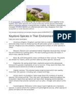 list of keystone species