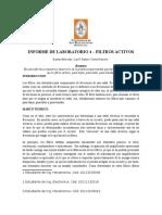 Informe de Laboratorio - Filtros Activos