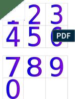 Countdown Numbers