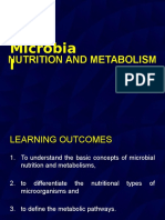 Topic 3 - Mcrobial Nutrition and Metabolism