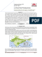 Design of Early Flood Warning System