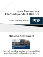 horn elementary profile
