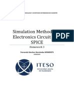 Simulation Methods for Electronics Circuit with SPICE