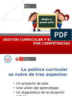 Gestion Curricular y Enfoque Por Competencias
