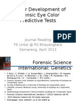 Forensic Eye Color Predictive Tests
