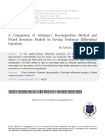 Good 3 a Comparison of Adomians Decomposition Method