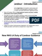NHS LA - Duty of Candour 2014 - Slides