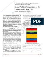 Impact of Defects and Ambient Temperature on the Performance of HIT Solar Cell