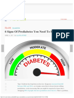 6 Signs of Prediabetes You Need to Know Prevention