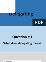 Delegating