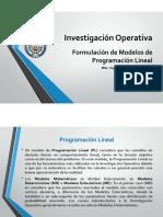 Clase 3 - Formulación de Modelos de Programación Lineal