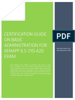 Certification Guide on Basic Administration for XenApp 6.5 1Y0-A20 Exam