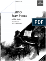 ABRSM 2017-18 Piano Pieces Gr6