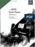 ABRSM 2017-18 Piano Pieces Gr6