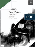 ABRSM 2017-18 Piano Pieces Gr7