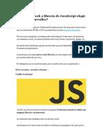 Javascript Frameworks