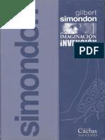 Simondon Gilbert - Imaginacion E Invencion
