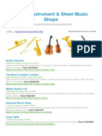 Musical Instrument Sheet Music Shops BizHouse.uk